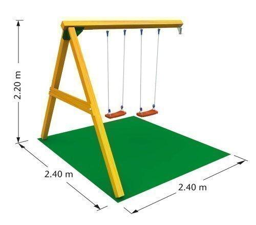 LoggyLand Anbauschaukel für Spieltürme und Stelzenhäuser