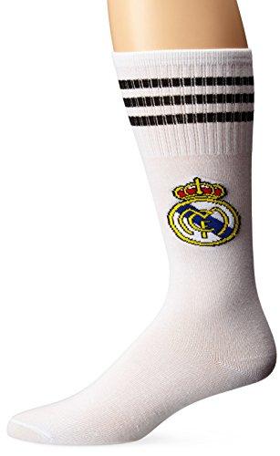 Real Madrid Kids Youth Soccer Team Socks (white) (Madrid Socks Men For Real)