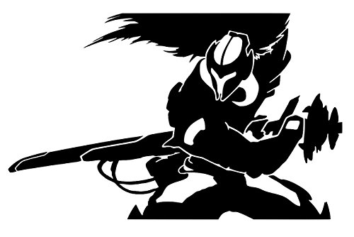 [Blk Yasuo League Of Legends Inspired Decal Vinyl Sticker Cars Trucks Walls Laptop BLACK 5.5] (Ashe League Of Legends Cosplay Costume)