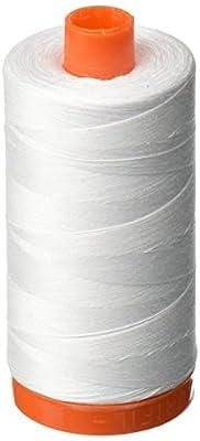 Aurifil A1050-2024 Mako Cotton Thread Solid 50WT 1422Yds White by Aurifil USA