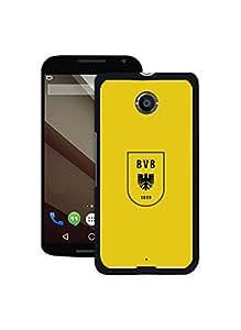 Google Nexus 6 durable Fundas, Famous Borussia Dortmund FC Collection Silicone Fundas Cover for Google Nexus 6 for Athletic