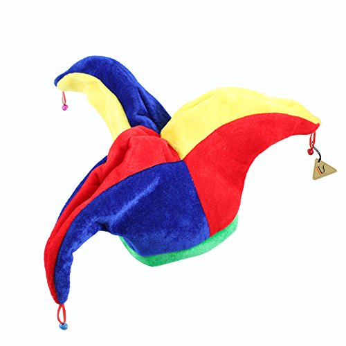 IDS Home Funny Multicolor Halloween Jester Clown Mardi Gras Party Costume Hat ()