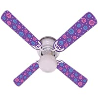 Ceiling Fan Designers Ceiling Fan, Kids Purple Party Pops, 42