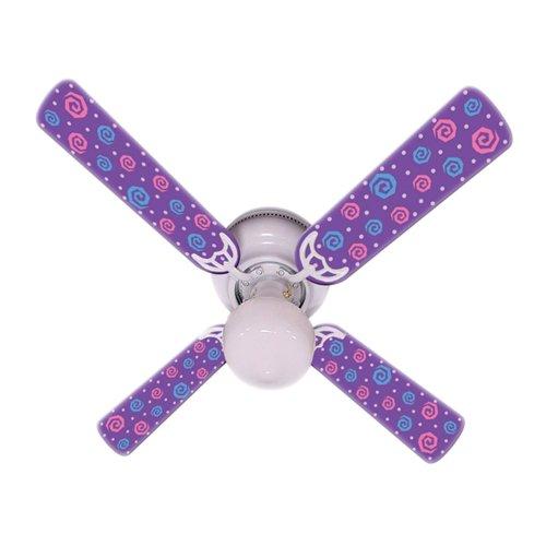 Ceiling Fan Designers Ceiling Fan, Kids Purple Party Pops, 42'' by Ceiling Fan Designers