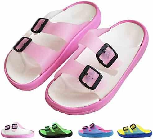 b1603628761 Techcity Women Men s Comfort Slide Sandal Lightweight Slip On Non-Slip  Beach Pool Bathroom