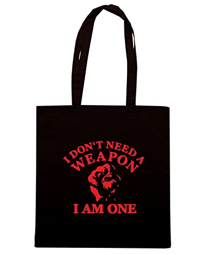 T-Shirtshock - Bolsa para la compra TBOXE0082 i am a weapon Negro