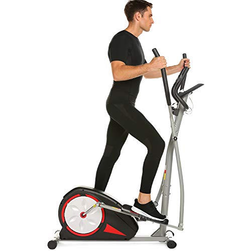 Simpfree Elliptical Machine Trainer Magnetic Smooth Quiet Driven, Top Levels Elliptical Trainer (Black) -