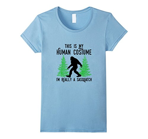 Sasquatch Costume Infant (Womens This Is My Human Costume I'm Really A Sasquatch Shirt Black Large Baby)