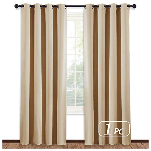 NICETOWN Room Darkening Curtain Blind - Modern Design Light Reducing & Privacy Protection Short Window Drape/Drapery for Kid's Room, 52x95-Inch, 1 Piece