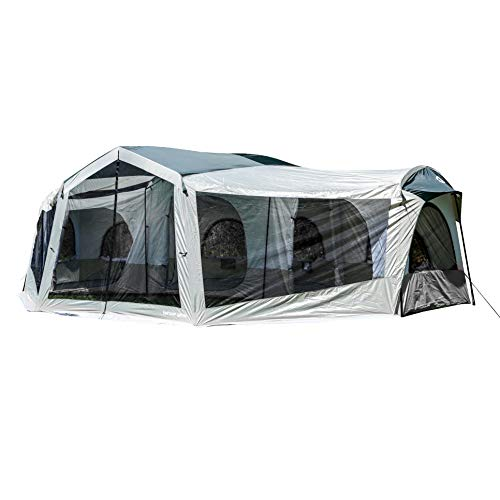 3 Room Camping Tent - Tahoe Gear Carson 3 Season 14 Person Large Family Cabin Tent with Solar Shield