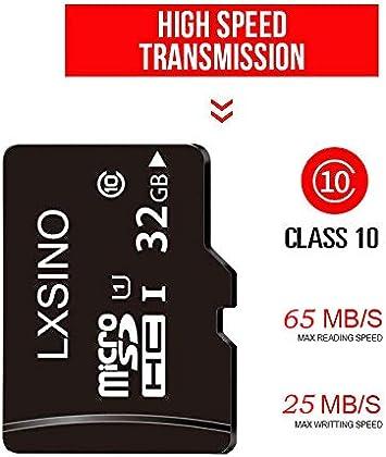 Amazon.com: lxsino Ultra Micro SD HC Clase 10 TF Flash ...