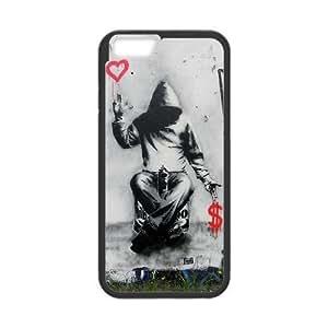 Diy Urban Graffiti Phone Case for iphone 6 (4.7 inch) Black Shell Phone JFLIFE(TM) [Pattern-1]