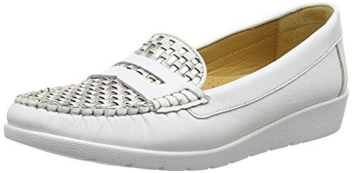 Van Dal Mitchell, Mocassins Femme Blanc (White/Gold)
