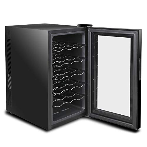 lunanice 18 Bottles Wine Cooler Refrigerator Air-tight Seal Quiet Temperature Control by lunanice (Image #6)