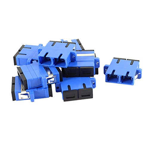 10 Pcs SC to SC Female Fiber Coupler Duplex Mode Optical Connector