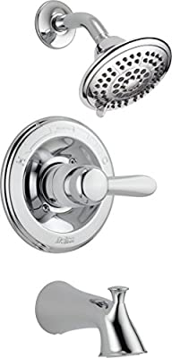 Delta Faucet Lahara 14 Series Single-Function Tub and Shower Trim Kit with 5-Spray Touch-Clean Shower Head