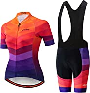 PSPORT Women Cycling Jersey Set Summer Cycling Clothing MTB Jersey Set Quick Dry Breathable Summer Bicycle Uni