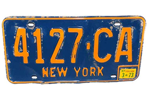 1973 New York State License Plate - Tag #4127-CA