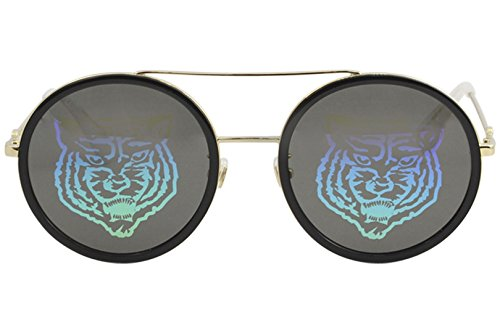 3b0094ba05 Amazon.com  Sunglasses Gucci GG 0061 S- 014 GOLD GREEN  Clothing