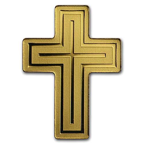 2018 DE Palau 1/2 gram Gold $1 Golden Crucifix Gold About Uncirculated