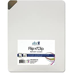 Docit Flip-N-Clip Report Cover, Port/Land, 25Sht Cap, 4/PK, CLFD (00721)