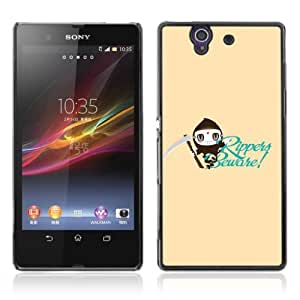 Designer Depo Hard Protection Case for Sony Xperia Z L36H / Cool Ripper Design