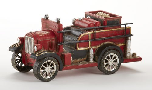 Delton Products Resin Antique Fire Truck Bank, Red (Antiques Products)