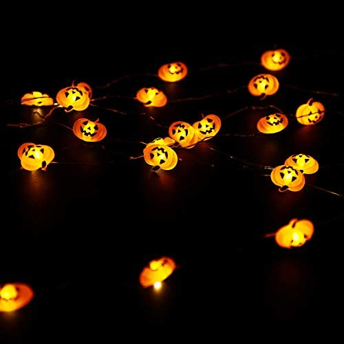 Holiday Party Decoration DROIEE String Lights,9.85ft with 40pcs Pumpkin Light for Indoor//Outdoor Halloween Christmas