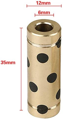 Noblik 3D Printer Accessories Bearing for Ultimaker 2 Um3 Graphite Copper Sleeve 6X12X35Mm