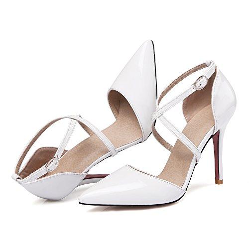 Pumps Formal Sandals Strap Heels Dress Party High Womens Stilettos White Shoes Rongzhi wY0fqEx