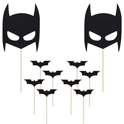 Party Hive 10pc Batman Inspired Cake & Cupcake Topper Set for Birthday Party Event Decor -