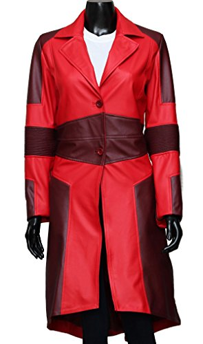 [Elizabeth Olsen Red Coat - Scarlet Witch Civil War Costume (M, Red)] (Nutcracker Costumes For Sale)