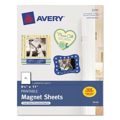 Printable Inkjet Magnet Sheets - 8-1 2 x 11 - White - 5 Pack - Sold as 5 Sheet