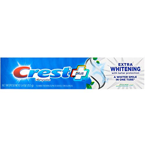 Crest Complete Extra Whitening Toothpaste with Tartar Protection, Clean Mint 5.4 oz (Pack of 12)