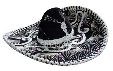 Black and White Mariachi Sombrero - Import It All d8e19288403