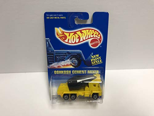 OSHKOSH CEMENT MIXER New Paint Style 1992 Mattel Hot Wheels Collector diecast 1/64 scale No. 269 (Oshkosh Cement Mixer)