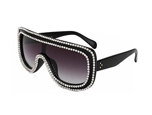 Luxury Women Crystal Sunglasses Handmade Rhinestones Rim Designs Sunglasses(S401) (Black, - Brand Sunglasses Handmade