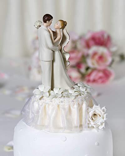 Off White Stephanotis Cake Topper: Skirt Color: - Stephanotis Cake Wedding