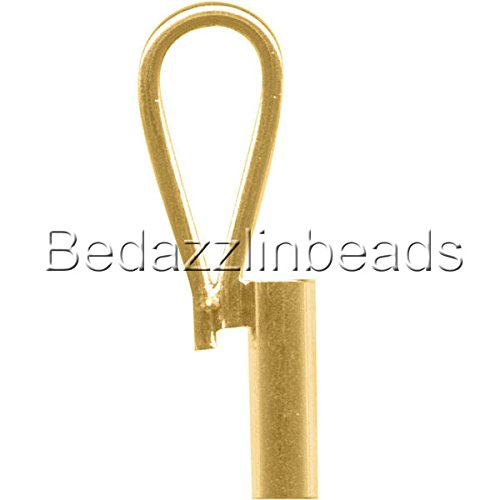 (5 Vertical Brooch Converters for Changing Brooches and Pins to Pendants Plated Brass Metal (Gold Plated))