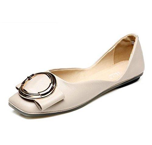 Zapatos de Mujer, Comfort Square Flats, Bombas, Zapatos de Mujer, Pisos con Planos C