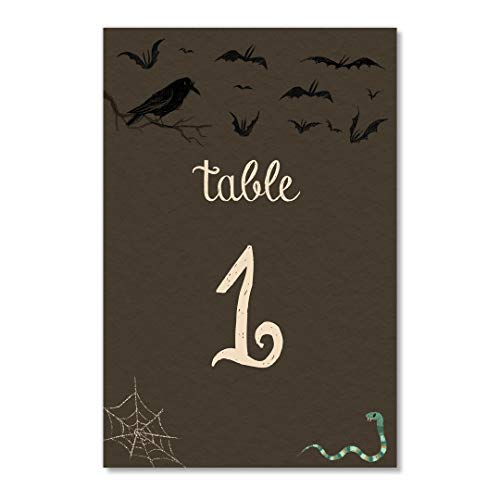 Halloween Table Numbers 25 Count Assigned Seating Event