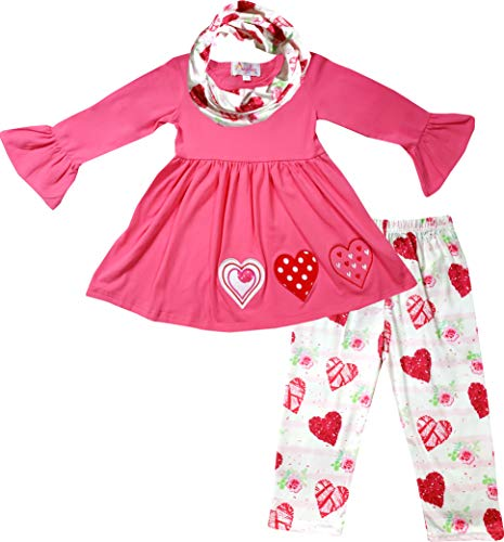 TODDLER BABY GIRL RED TUNIC W LEGGING OUTFIT TRIPLET 3T
