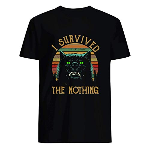 USA 80s TEE I Survived The Nothing Shirt Black