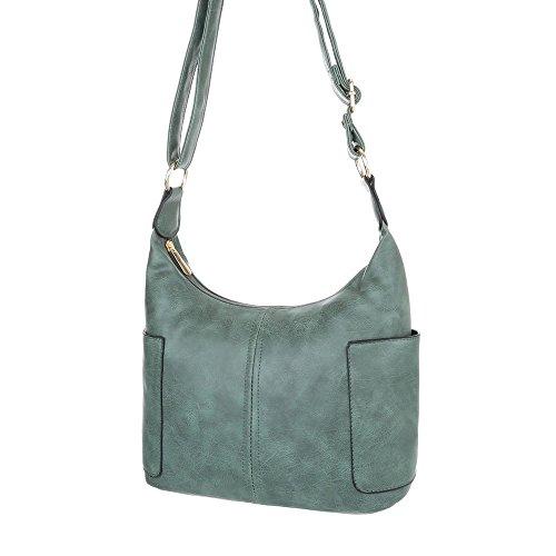 Schuhcity24 Taschen Handtasche In Used Optik Grün