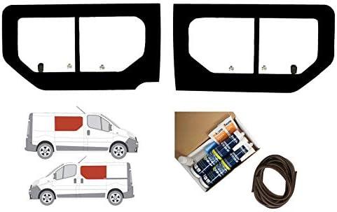 Mano izquierda y mano derecha ventana de apertura transparente doble para Renault Trafic (2001 – 2014): Amazon.es: Coche y moto