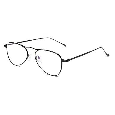 0ed076ecd1b Oval Eyeglasses Unisex - Resin Lens Glasses Clear Lens Vintage Fashion  Glasses Frames Plain Eyewear for Men and Women  Amazon.co.uk  Clothing