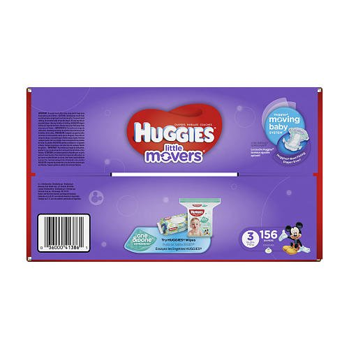 Huggies Little Movers Size 3 Diapers - 156 Count (Packaging may vary)