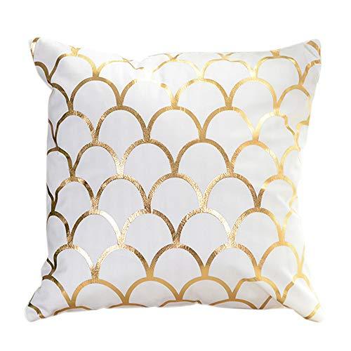 iYBUIA Gold Foil Printing Super Soft Pillow Case Sofa Waist Throw Cushion Cover Home Decor