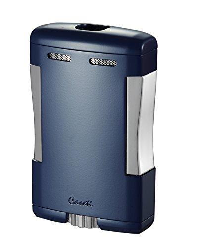 Visol Products Caseti Sparta Triple Jet Flame Cigar Table Lighter, Blue Matte (Triple Flame Table)