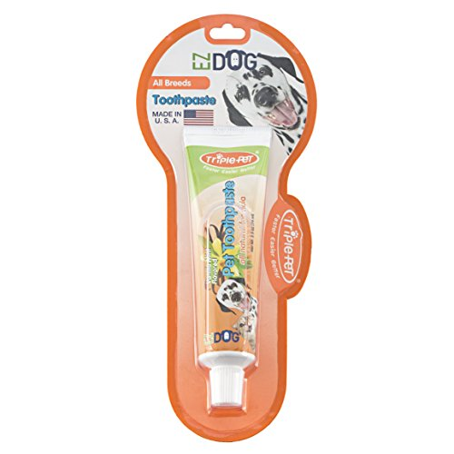 (Triple Pet EZ Dog Toothpaste for Dogs | Best All-Natural Toothpaste For All Dog Breeds)